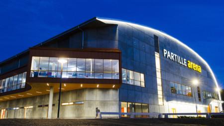 Dubbla landskamper i Partille Arena