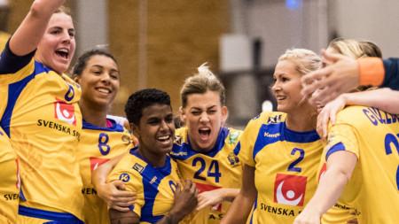Sverige EM-kvalar mot Serbien i Skövde