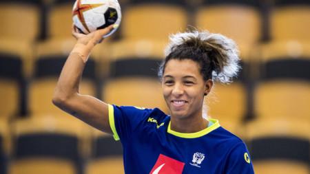 TV: Jamina Roberts inför matchen mot Ungern