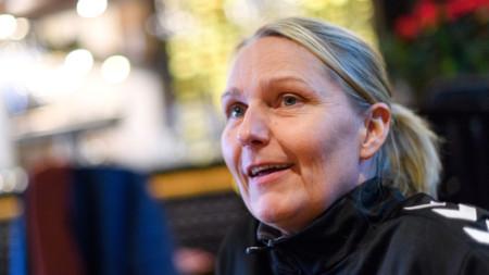 TV: Helle Thomsen inför bronsmatchen mot Sverige