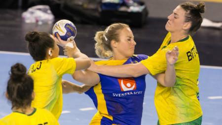 Sverige tolva i VM efter förlust mot Brasilien