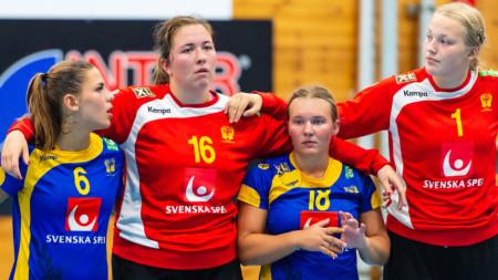 U18-damerna föll med fem mot Norge