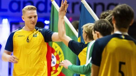 U18-herrarna i dubbla matcher mot Danmark