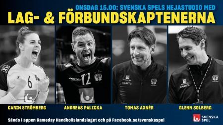 Lag- och förbundskaptenerna gästar Svenska Spels hejastudio