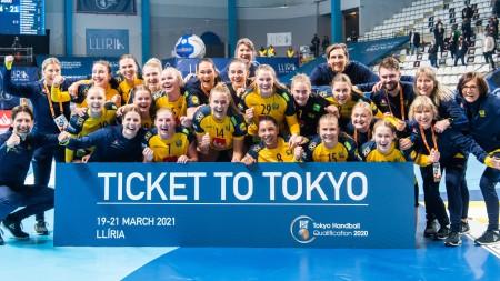Komfortabel seger gav Sverige OS-biljett